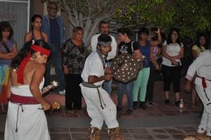 Don Jorge Cordero, doña Loreto y los danzantes en la Caravana Nacional por la Defensa del territorio, el Trabajo, el Agua y la Vida