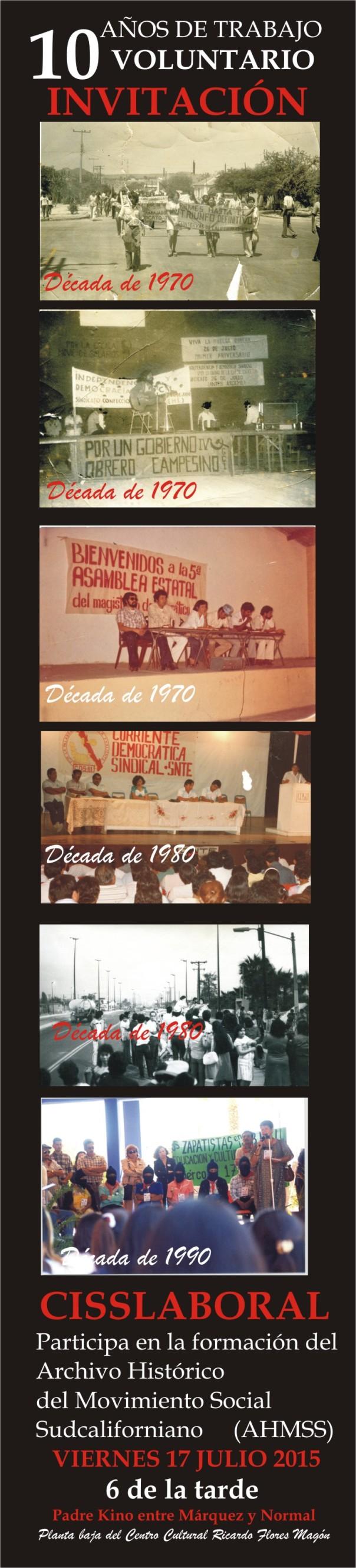 INVITACION 10 AÑOS TRABAJO VOLUNTARIO