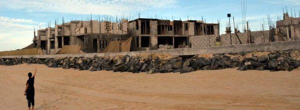 Construcción del hotel Boutique y dique en Punta Lobos. Foto: Jamie Ivee Sechrist-Madrazo.